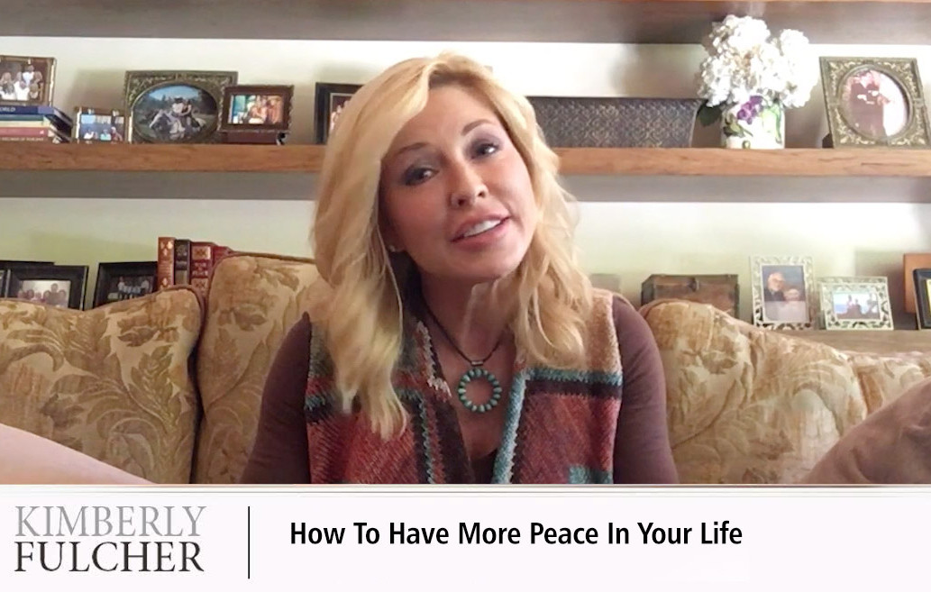 How to have more peace in your life.