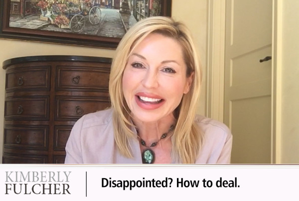 Disappointed? Learn how to deal with it.