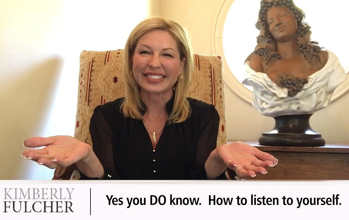 Yes you DO know.  How to listen to yourself.